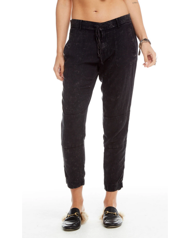 Heirloom Woven Cropped Drawstring Pants