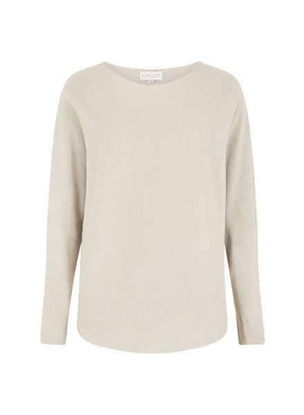 Apricot Batwing Cream Jumper