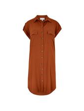 Apricot Utility Sleeveless Dress