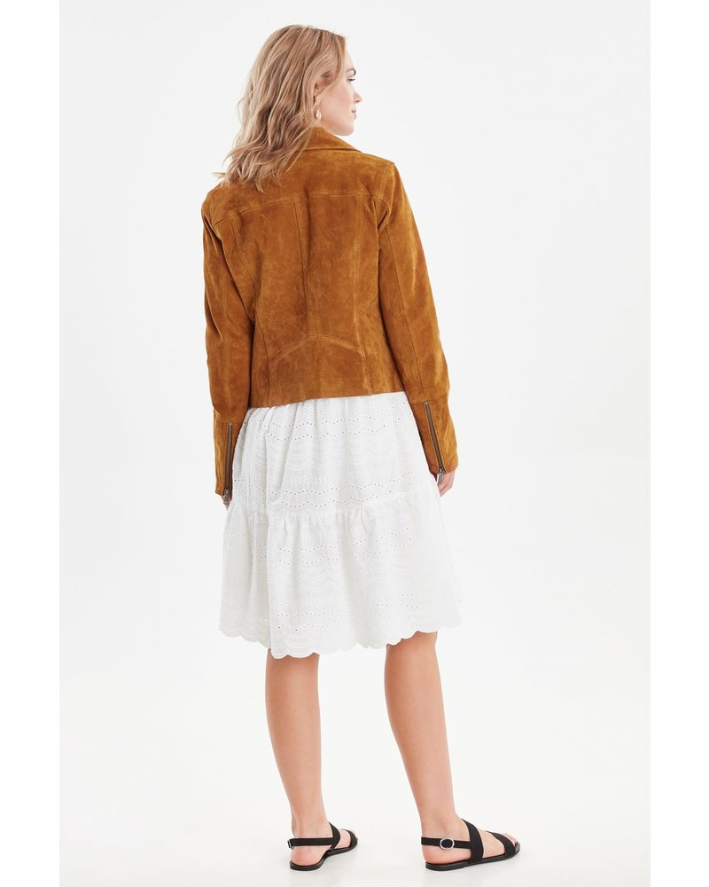 b.young Bycora Biker Suede Jacket