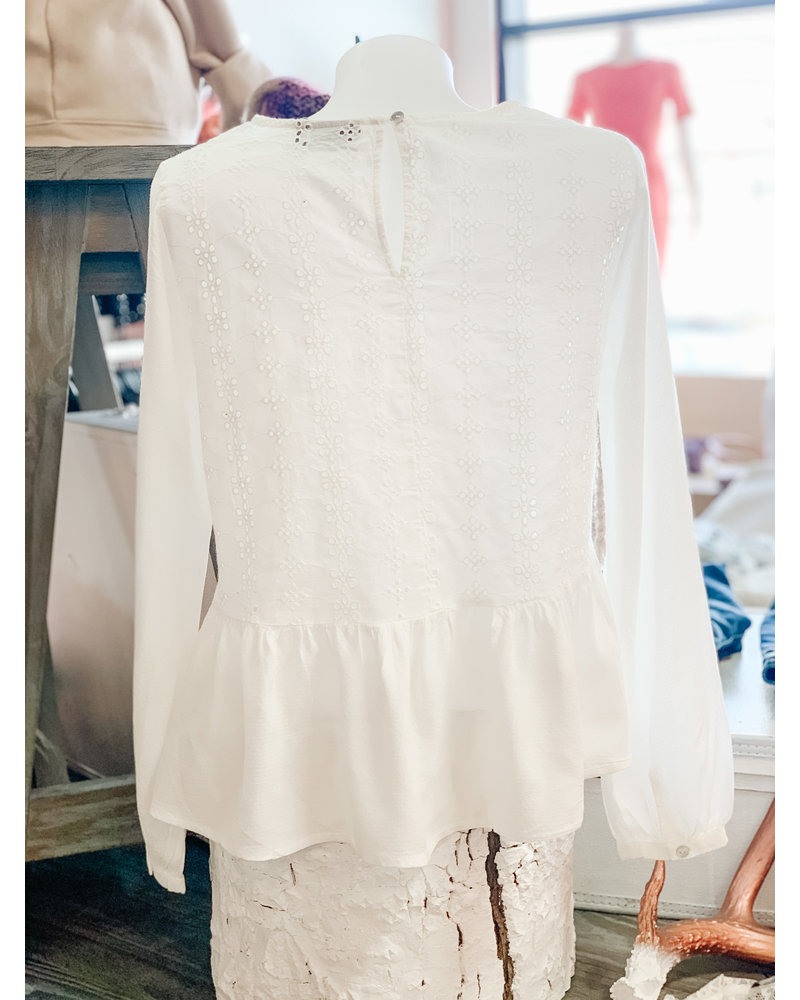b.young ByIvonne Frill Blouse
