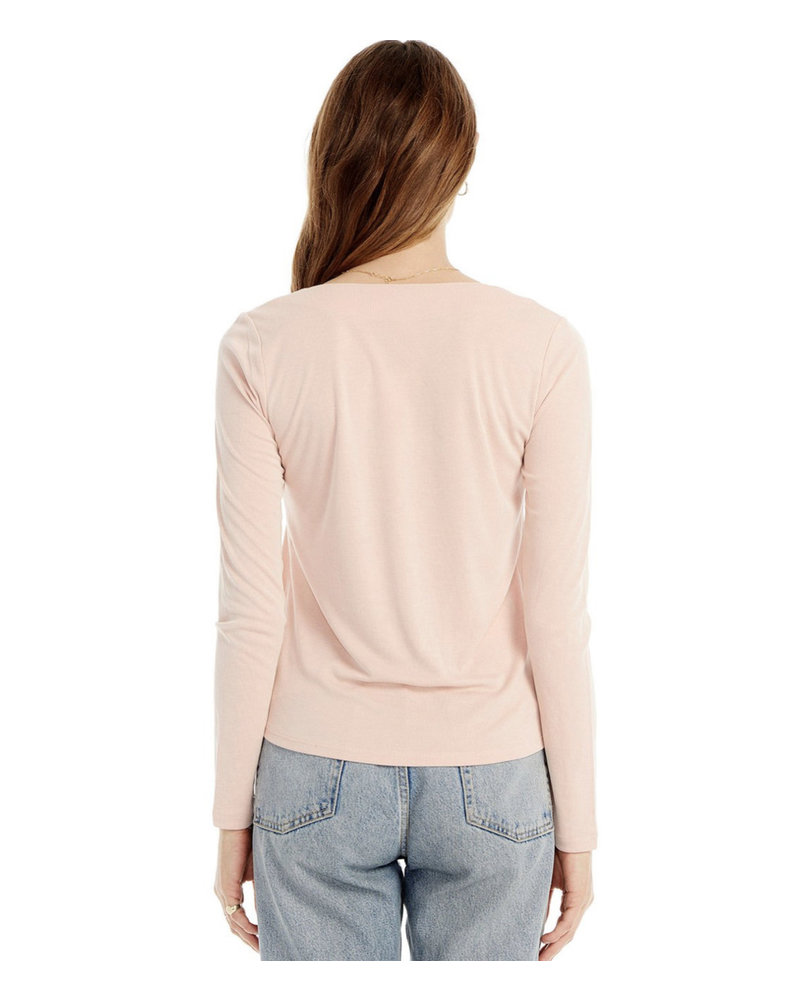Saltwater Luxe Basic Square Neck LS Tee