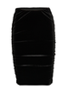 b.young Byperlina Velvet Roughed Skirt