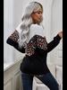 Miss Sparkling Cheetah Print V Neck