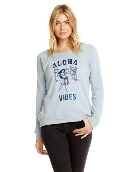 Chaser- Long Sleeve Raglan Pullover- Aloha Vibes