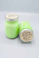 Big White Yeti Mason Jar Candle Woodland Elves