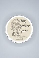 Big White Yeti Candle Holly Jolly