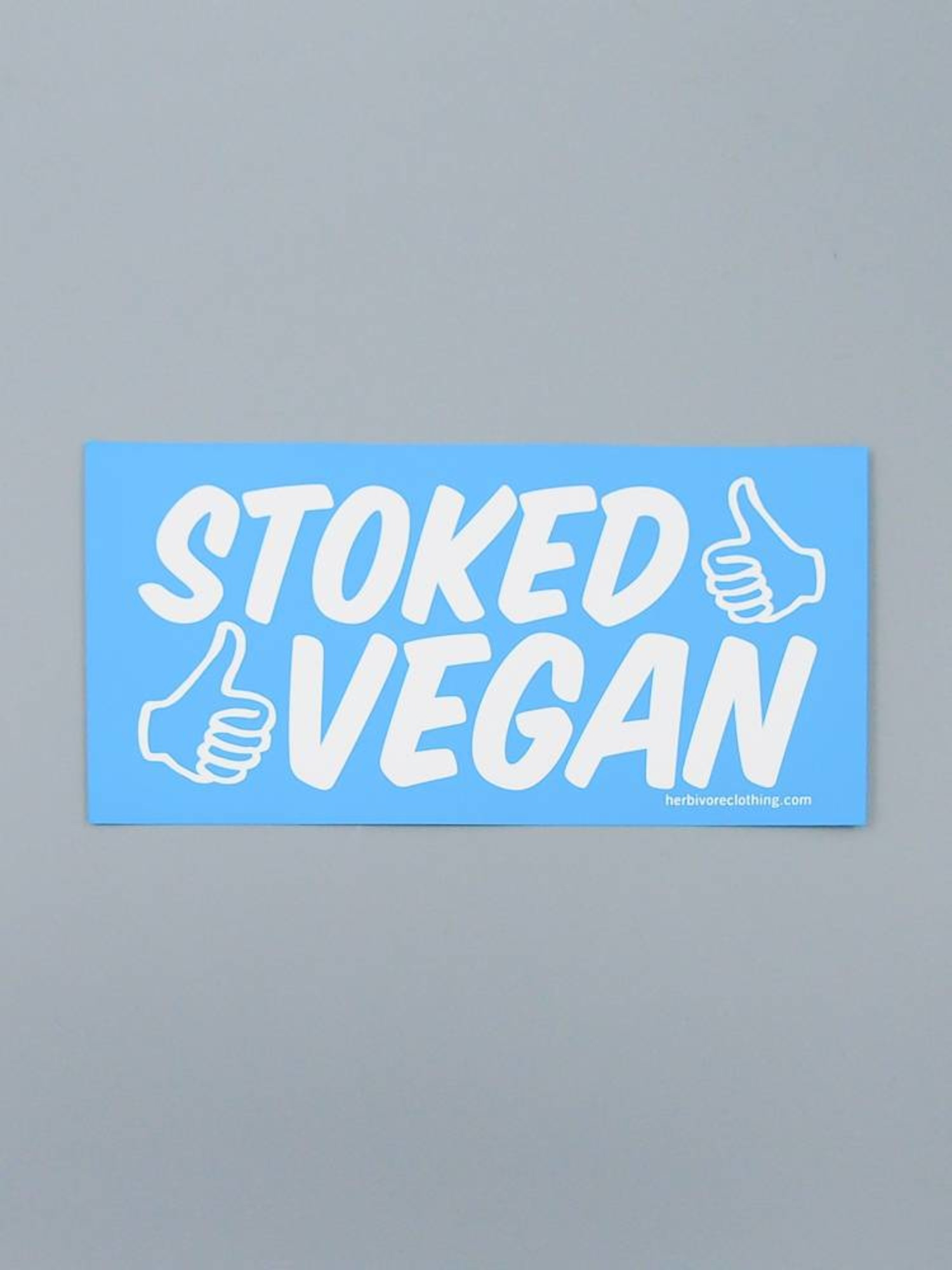 Stoked Vegan (Two Thumbs) Bumper Sticker - The Herbivore Clothing Co