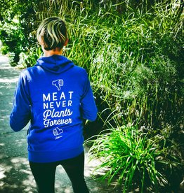 Meat Never, Plants Forever Lightweight Zip-Up Hoodie