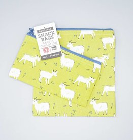 Now Designs Snack Bag Set Goats