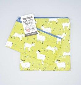 Now Designs Snack Bag Set Goats