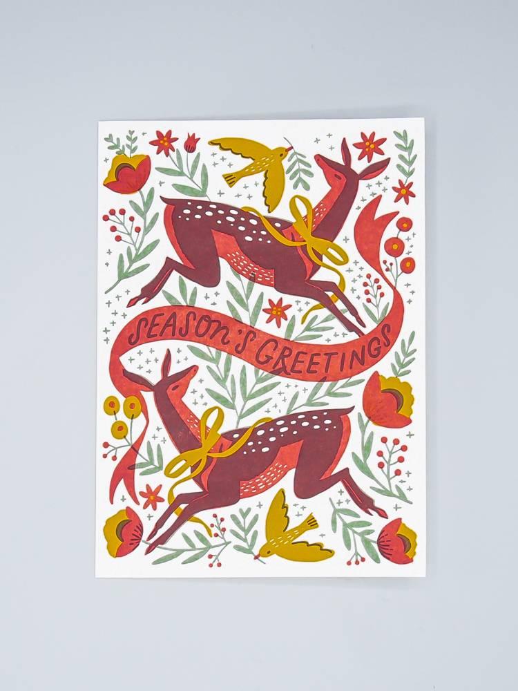 Doe A Deer Holiday Card