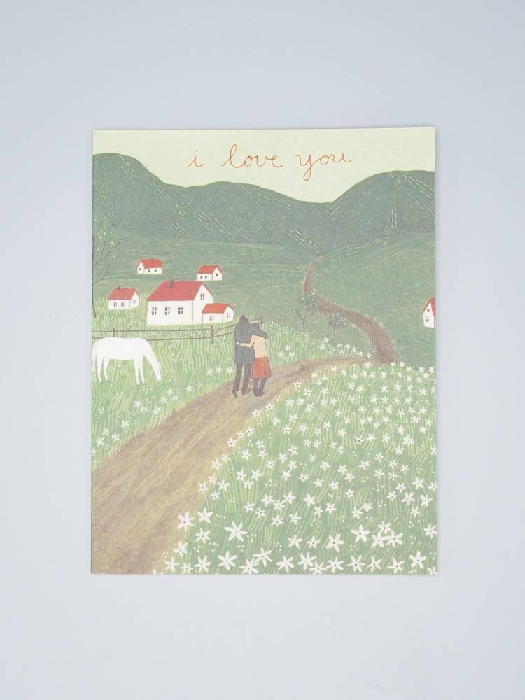 I Love You Hills Card
