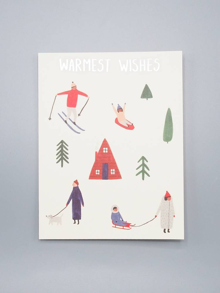 Warmest Wishes Snowy Holiday Card