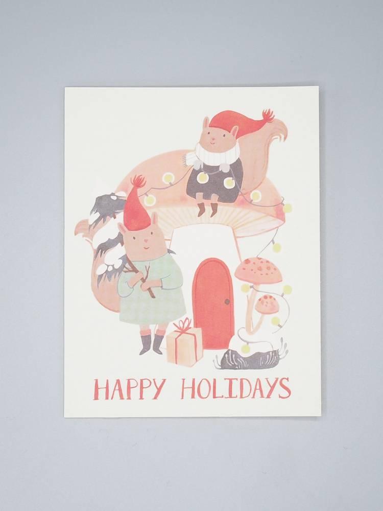Mushroom Home Holiday Card