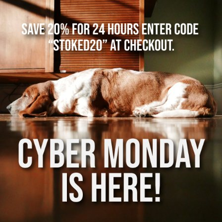 Cyber Monday Is Here! WOO! 20% Off Today Only!
