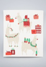 Now Designs Swedish Dishcloth Fa La La La Llamas