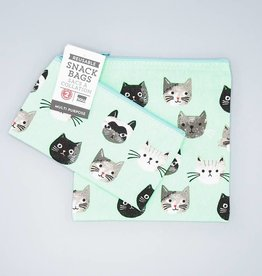 Now Designs Snack Bag Set Cats