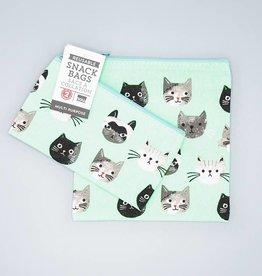 Now Designs Snack Bag Set Cats