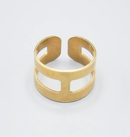 Divided Double Band Ring