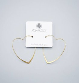 Heart Hoop Earring by Mishakaudi