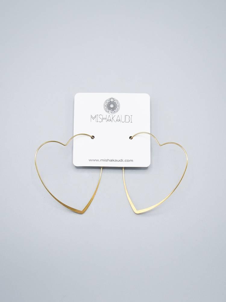 Heart Hoop Earring by Mishakaudi