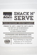 Now Designs Snack N' Serve Container - Blue Geo (5 inch)