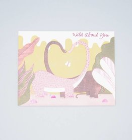 Wild About You Dino Card