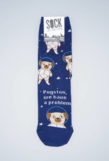 Pugston, We Have A Problem Women's Crew Sock from Sock It To Me