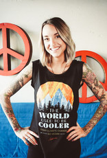 The World Used To Be Cooler Cap Sleeve Tank