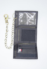 Hempy's Tri-Fold Chain Wallet Black
