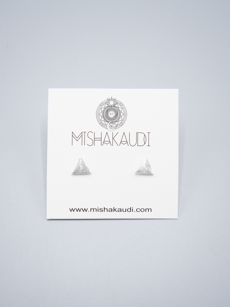 Sterling Silver Small Triangle Earring by Mishakaudi