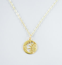 Sun & Moon Necklace by Mishakaudi