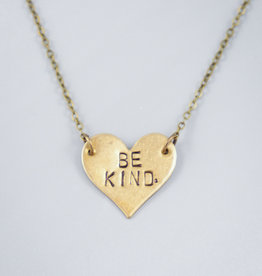 Be Kind. Heart Necklace by Mishakaudi