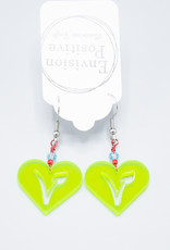 Vegan Neon Green Earring by Envision Positive