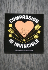 Compassion Is Invincible Arrows Coral/Yellow Sticker