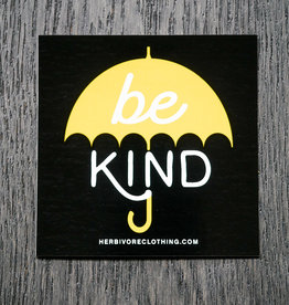 Be Kind Yellow Umbrella Sticker
