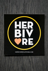 Herbivore Circle Coral/Yellow Sticker