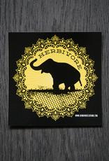 Good Luck Elephant Yellow Sticker
