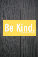 Be Kind. Yellow Sticker