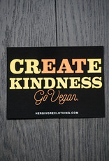 Create Kindness Coral/Yellow Sticker