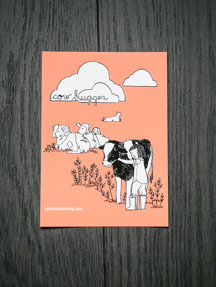 Cow Hugger Coral Sticker