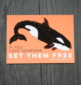 Set Them Free Orca Coral Sticker