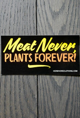 Meat Never Plants Forever Coral/Yellow Sticker