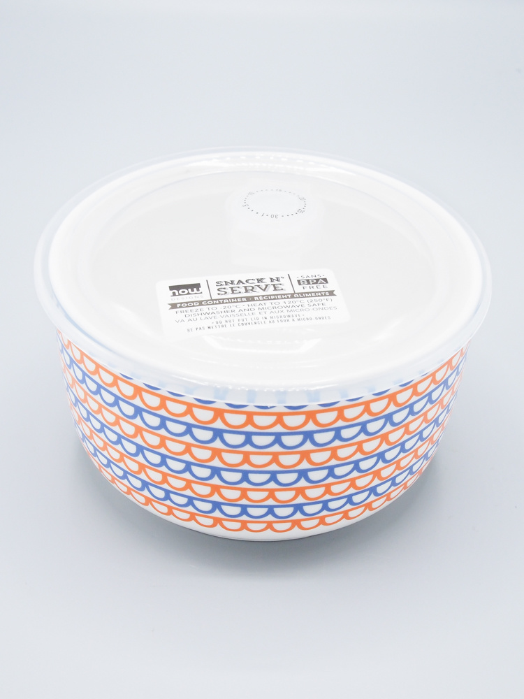 Now Designs Snack N' Serve Container - Large Orange Scallop