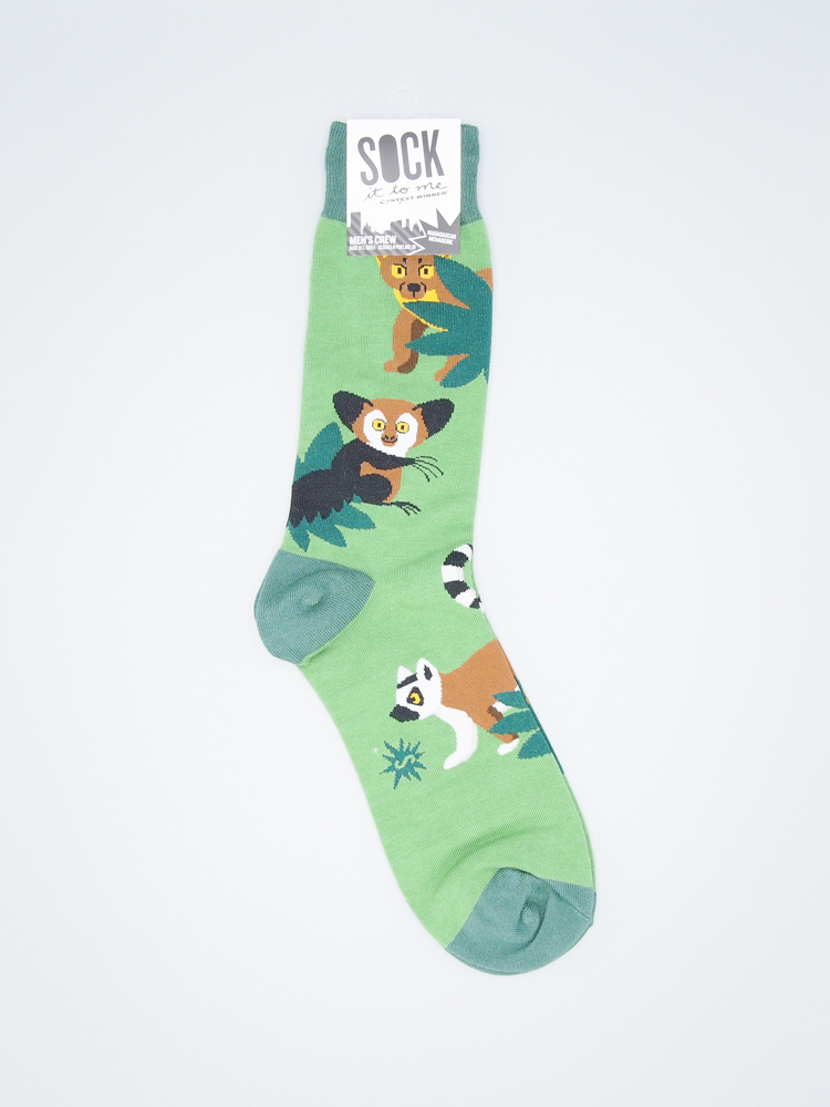 Madagascar Menagerie Men's Crew Sock from Sock It To Me