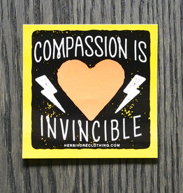 Compassion Is Invincible Bolt Coral/Yellow Sticker