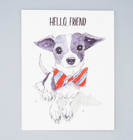Hello Friend Dog Card