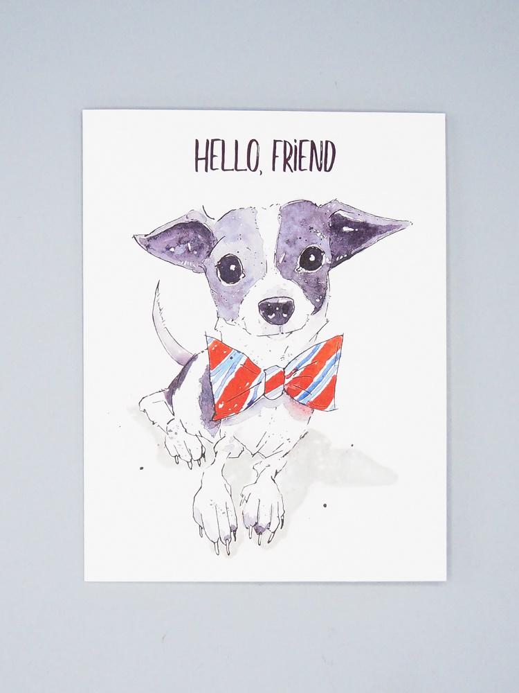 Hello Friend Dog Card