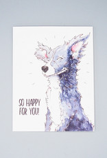 So Happy For You! Dog Card